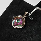 Украшения handmade. Livemaster - original item Silver pendant with quartz 10h10 mm. Handmade.