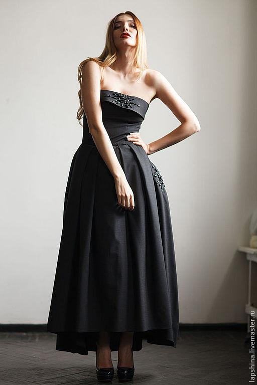 Платья ручной работы. Ярмарка Мастеров - ручная работа. Купить платье NewLook. Handmade. Черный, костюмная ткань