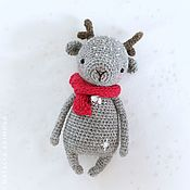 Куклы и игрушки handmade. Livemaster - original item Christmas deer knitted deer. Handmade.