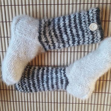 Аксессуары handmade. Livemaster - original item Socks made of dog down. Handmade.