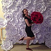 Свадебный салон ручной работы. Ярмарка Мастеров - ручная работа Пресс-волл с бумажными розами (аренда). Handmade.