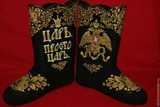 """Обувь ручной работы. Ярмарка Мастеров - ручная работа. Купить """"Царь. Просто Царь"""". Handmade. Черный, подарок мужчине, царь"""