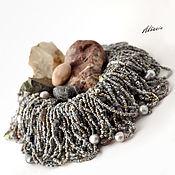 Украшения handmade. Livemaster - original item Stream granite - grey necklace-chaos. Handmade.