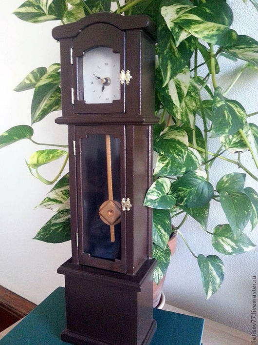 Кукольный дом ручной работы. Ярмарка Мастеров - ручная работа. Купить Кукольные часы. Handmade. Коричневый, часы, кукольная мебель