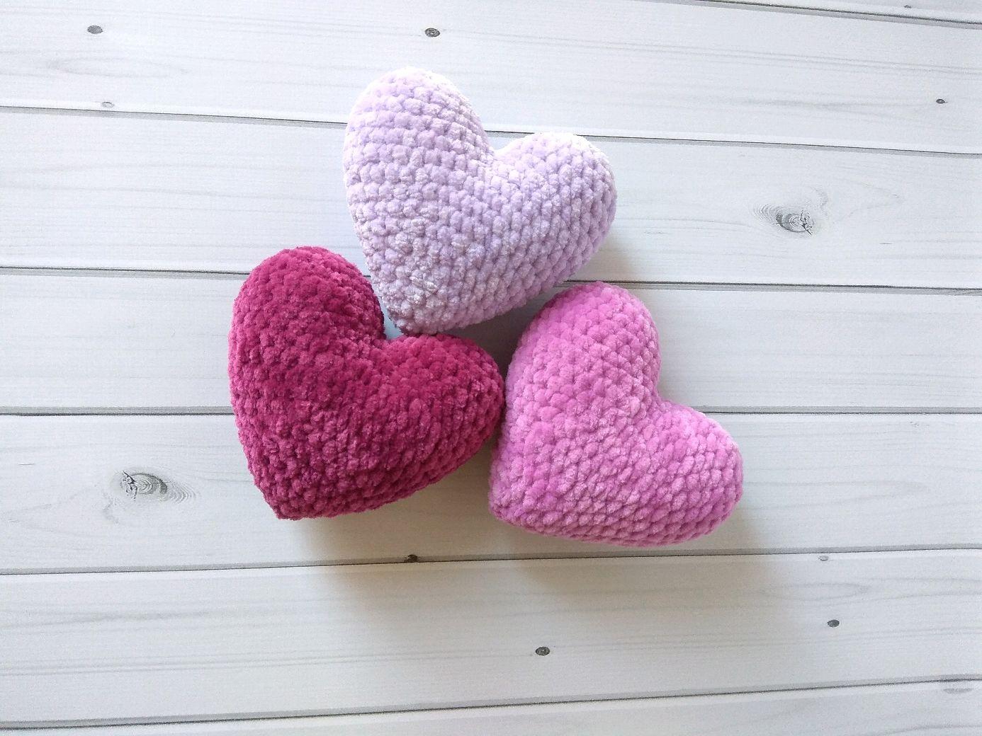 Набор Плюшевые сердечки, Миниатюрные игрушки, Москва, Фото №1
