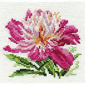 """Схемы для вышивки ручной работы. Ярмарка Мастеров - ручная работа Набор для вышивания Алиса """"Розовый пион"""". Handmade."""