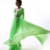 """Одежда ручной работы. Ярмарка Мастеров - ручная работа Платье из шифона """"Зеленое яблоко"""". Handmade."""