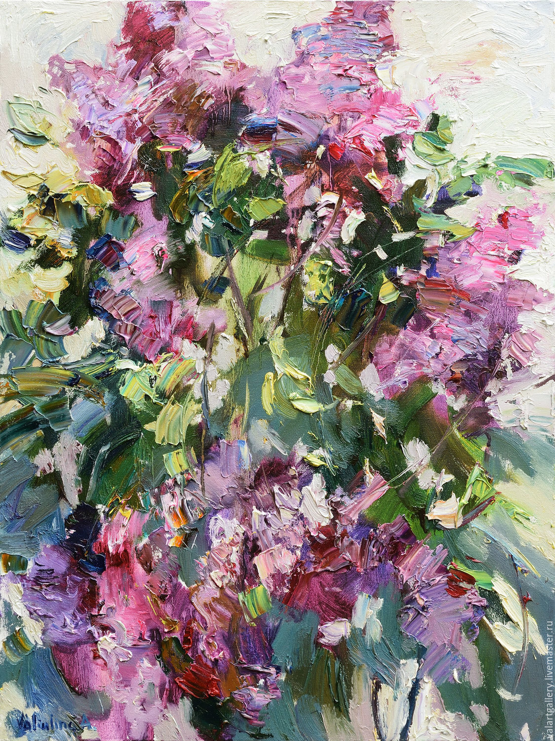 Blooming lilac - Original oil painting – shop online on Livemaster ...