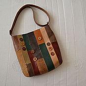 """Классическая сумка ручной работы. Ярмарка Мастеров - ручная работа сумка кожаная """"Пуговицы в клёне"""". Handmade."""