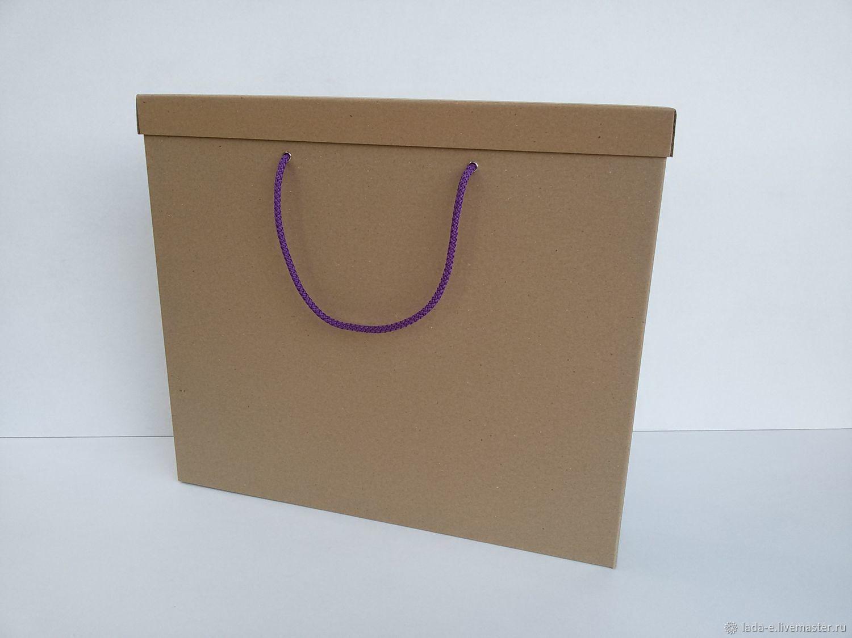 Коробка для картины или альбома с ручками №3, Подарочная упаковка, Москва,  Фото №1