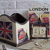 "Канцелярские товары ручной работы. Ярмарка Мастеров - ручная работа Набор ""LONDON"". Handmade."