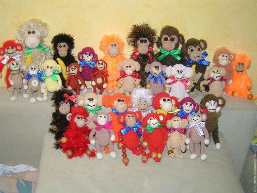 Игрушки животные, ручной работы. Ярмарка Мастеров - ручная работа. Купить Скоро Новый год-обезьянка к нам идет!. Handmade. Разноцветный