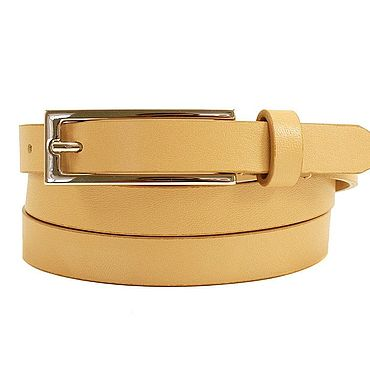 Accessories handmade. Livemaster - original item Copy of Brown leather belt. Handmade.