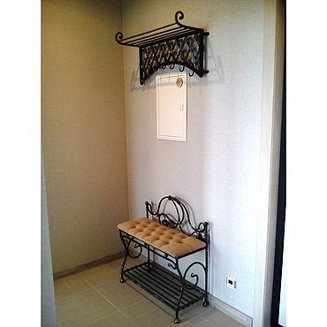 Мебель ручной работы. Ярмарка Мастеров - ручная работа Прихожая Кованая  — вешалка, банкетка, зеркало. Handmade.