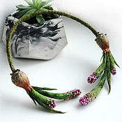 Украшения handmade. Livemaster - original item Open necklace HYACINTH felt. Handmade.
