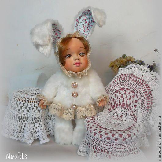 Коллекционные куклы ручной работы. Ярмарка Мастеров - ручная работа. Купить Зайка тедди-долл. Интерьерная коллекционная кукла игрушка.. Handmade.