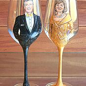 Сувениры и подарки handmade. Livemaster - original item Glasses as a gift for the Wedding Anniversary. Handmade.