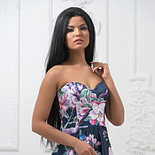 Одежда handmade. Livemaster - original item Evening dress with floral print. Handmade.