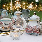 Gifts handmade. Livemaster - original item Gifts: China tea set
