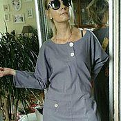 Одежда ручной работы. Ярмарка Мастеров - ручная работа 50 размер распродажа бохо платье (лен) лаванда. Handmade.