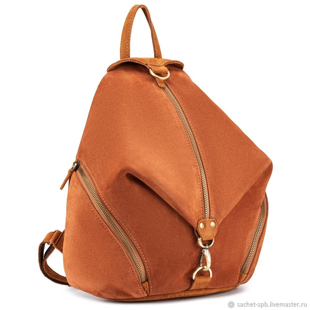 Women's leather backpack 'Delgamo' (brown nubuck), Backpacks, St. Petersburg,  Фото №1