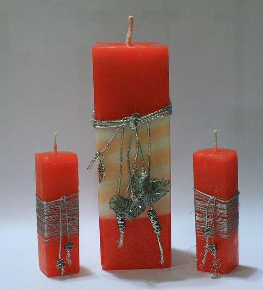 """Свадебные аксессуары ручной работы. Ярмарка Мастеров - ручная работа. Купить Свадебные свечи """"Сладкая жизнь"""". Handmade. Свадебные свечи"""