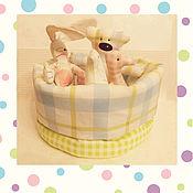 Куклы и игрушки ручной работы. Ярмарка Мастеров - ручная работа Комплект игрушек в стиле Тильда для малышек и малышей. Handmade.