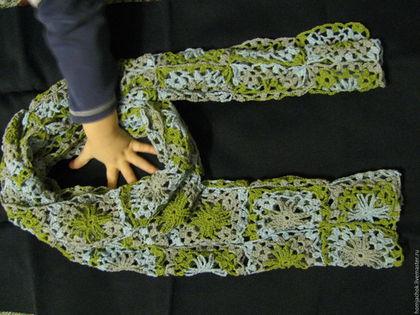 Шарфы и шарфики ручной работы. Хлопковый шарф