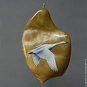 """Украшения ручной работы. Ярмарка Мастеров - ручная работа Кулон """"Лебедь"""". Handmade."""