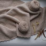 Shawls1 handmade. Livemaster - original item Scarf warm and soft, lambswool Merino (scarf/shawl/Bacchus). Handmade.