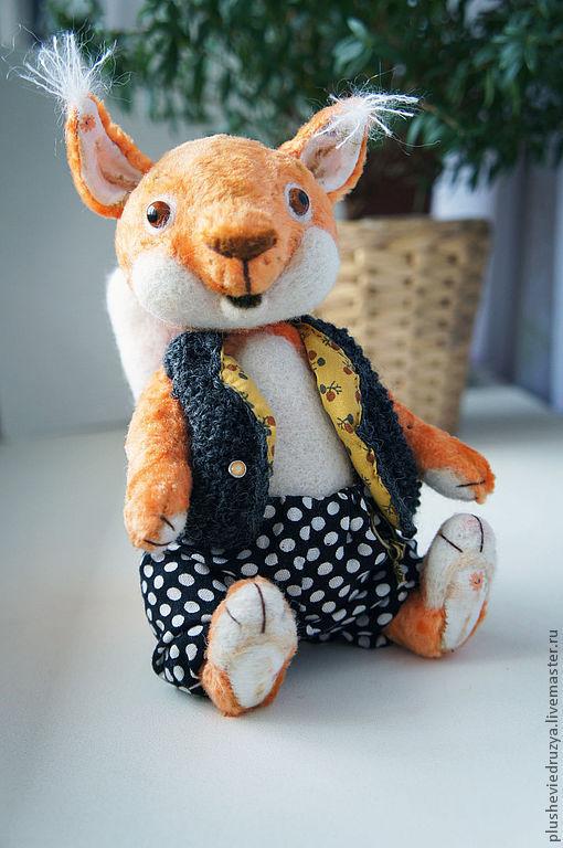 Мишки Тедди ручной работы. Ярмарка Мастеров - ручная работа. Купить Белка Степа. Handmade. Оранжевый, опилки древесные