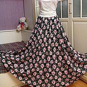 Одежда ручной работы. Ярмарка Мастеров - ручная работа Штапельная юбка в пол Вивьен. Handmade.