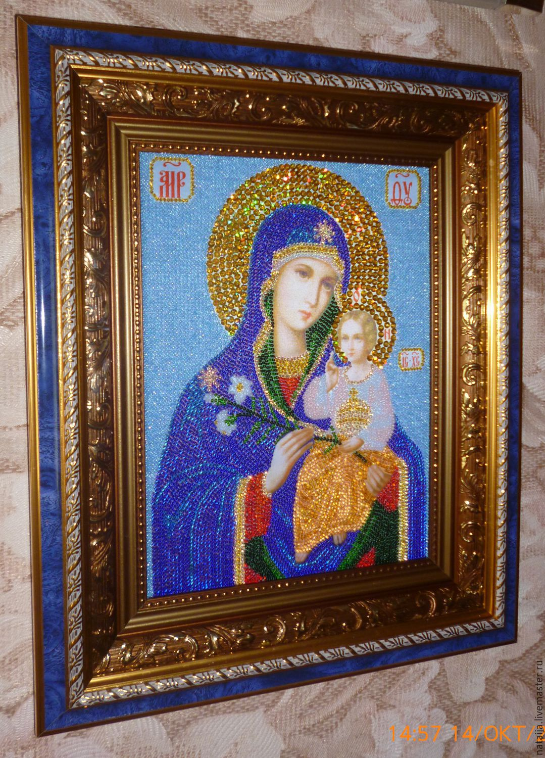 The icon of Theotokos 'the Unfading blossom', Icons, Saransk,  Фото №1