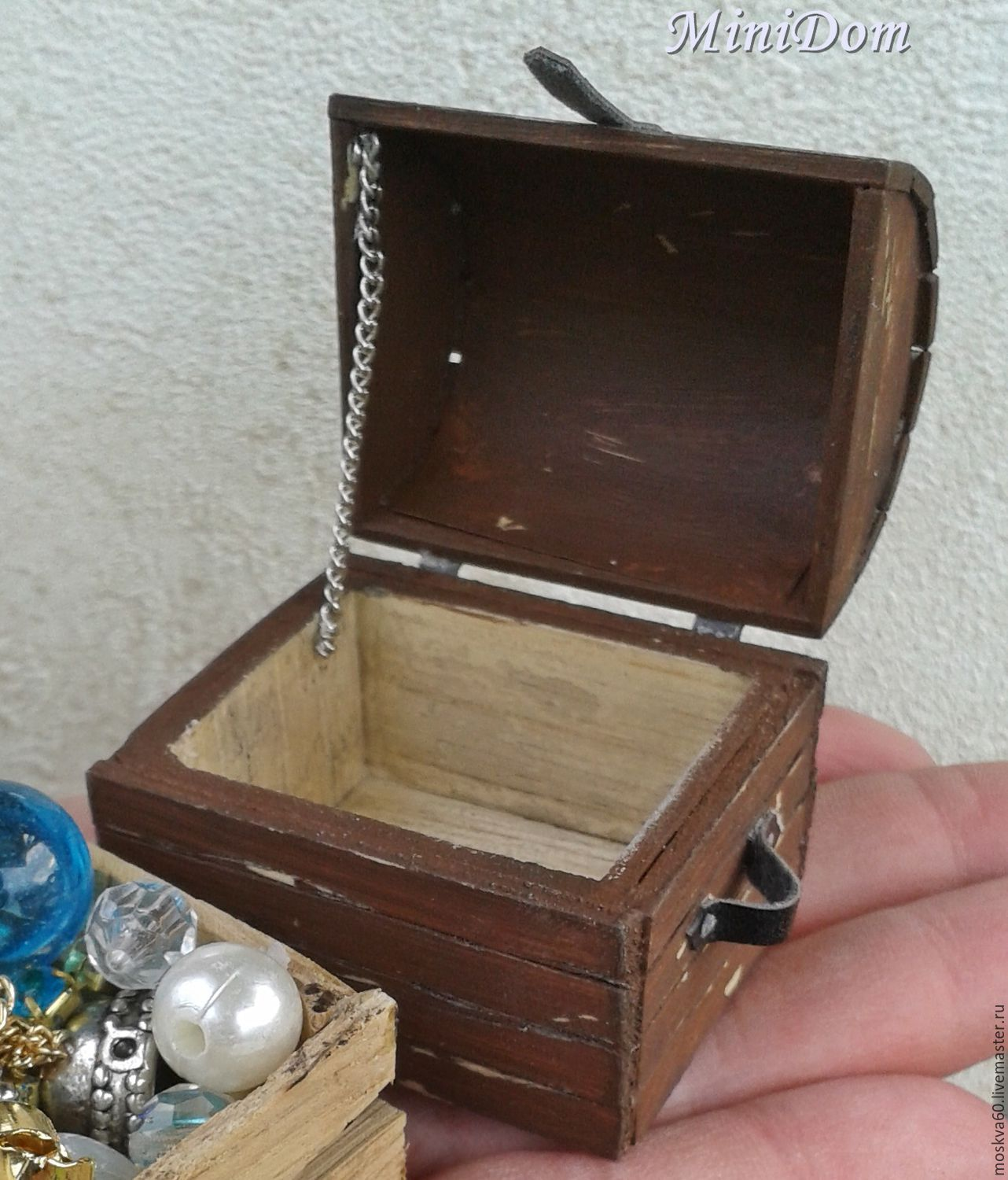 Order Furniture For Dolls   Pirate Chest For Miniature Dollhouse.