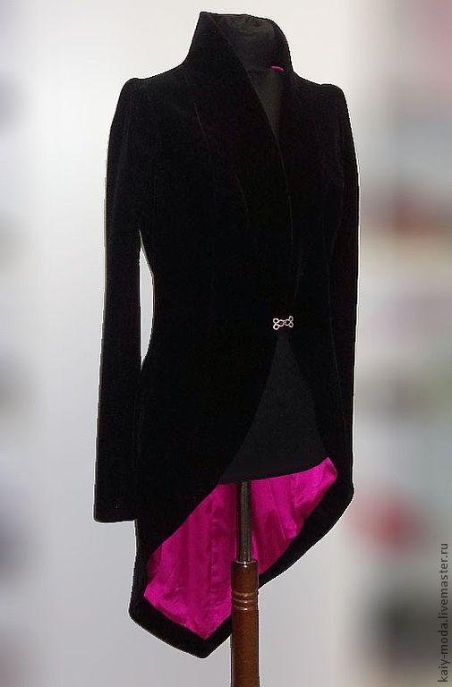 Suit Jackets & Blazers handmade. Livemaster - handmade. Buy Velvet coat.Black, solid, velvet