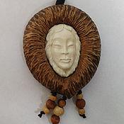 Украшения handmade. Livemaster - original item Bone and wood cameo. Pendant carved from bone. Mascot Acutance. Handmade.