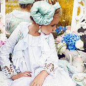 Работы для детей, ручной работы. Ярмарка Мастеров - ручная работа Легкое пальто из коллекции Romantic Flowers/РЕЗЕРВ. Handmade.
