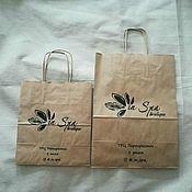 Упаковка ручной работы. Ярмарка Мастеров - ручная работа Крафт пакет с логотипом #2. Handmade.