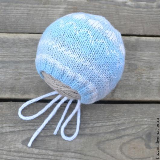 Для новорожденных, ручной работы. Ярмарка Мастеров - ручная работа. Купить Шапка  детская для новорожденного из шерсти. Handmade. Шапка