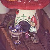 Куклы и игрушки ручной работы. Ярмарка Мастеров - ручная работа Деревянная игрушка. Гномик и мышка.. Handmade.