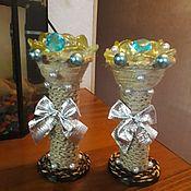 Подсвечники ручной работы. Ярмарка Мастеров - ручная работа Подсвечники, ваза. Handmade.