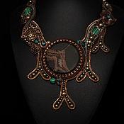 Украшения handmade. Livemaster - original item Necklace with malachite septaria and