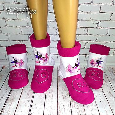 Обувь ручной работы. Ярмарка Мастеров - ручная работа Разогревочные сапожки для гимнастики и танцев. Handmade.
