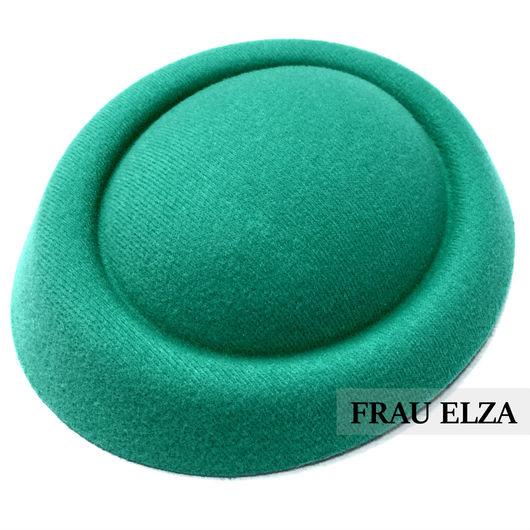 Шитье ручной работы. Ярмарка Мастеров - ручная работа. Купить Основа для шляпки из фетра Светло-зеленая. Handmade. Основа для шляпки