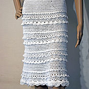 Одежда handmade. Livemaster - original item Knitted skirt with ruffle Dorothy. Hook, cotton. Handmade.