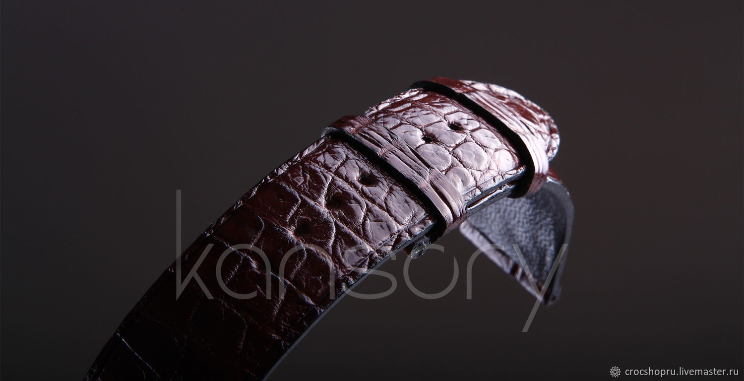Watchband crocodile leather IMA0423VK4, Watch Straps, Moscow,  Фото №1