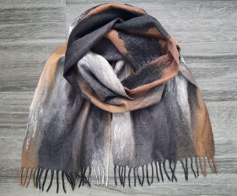 Шарф мужской валяный, шарф паутинка валяный мужской, Шарфы, Хмельницкий,  Фото №1