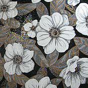 Картины и панно ручной работы. Ярмарка Мастеров - ручная работа Цветы (декоративное панно), мозаика. Handmade.