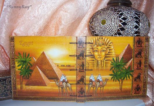 """Блокноты ручной работы. Ярмарка Мастеров - ручная работа. Купить Блокнот """"Египет"""". Handmade. Оранжевый, блокнот для записей, блокнот в подарок"""