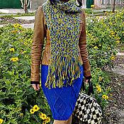 Одежда ручной работы. Ярмарка Мастеров - ручная работа Вязаная юбка карандаш цвет электрик. Handmade.